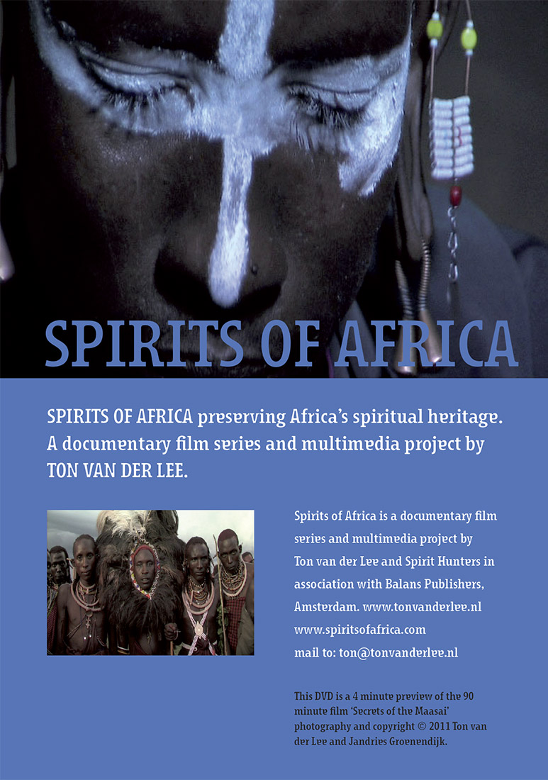 Dvd inlay achterflap Spirits of Africa
