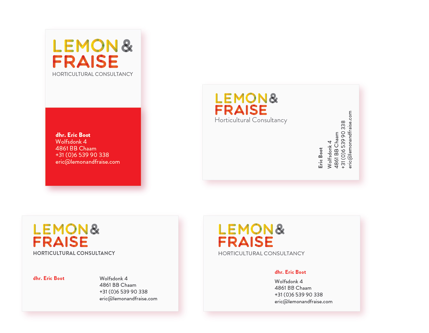 Visitekaartjes voor Lemon and Fraise